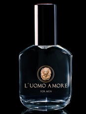 luomo Amore cologne for gay, bisexual, homosexual men bottle by alpha dream
